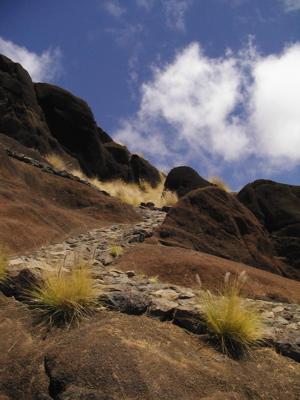 Aufstieg im Tal von Agaete