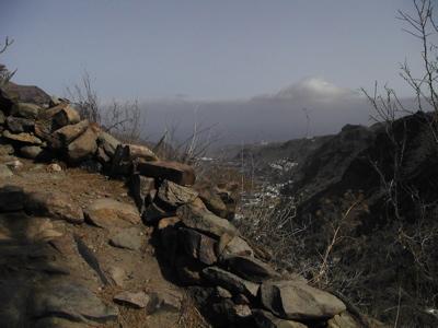 Trekking oberhalb des Tals von Agaete