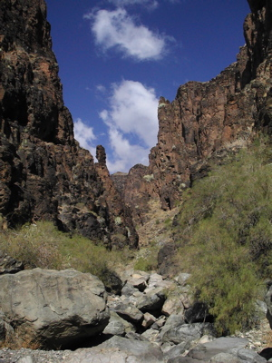 Wandern im Süden von Gran Canaria im Barranco Hondo
